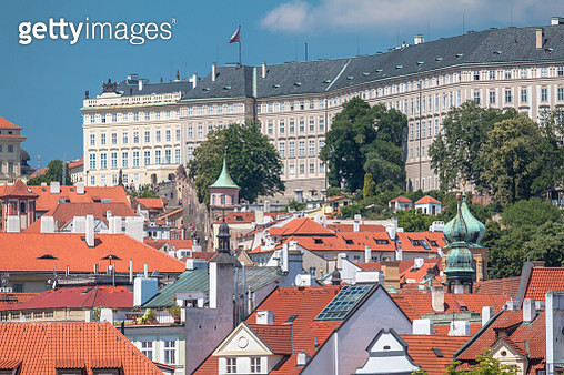 View of Prague city, roofs at old city (Mala Strana), Czech Republic, outdoors, daylight, image taken from Charles' bridge. - gettyimageskorea