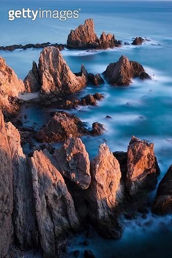 Arrecife de las Sirenas or Reef of the Sirens, Cabo de Gata, Cabo de Gata-Nijar Natural Park, Almeria Province, Andalusia, Spain - gettyimageskorea