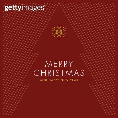 Greeting card with stylized Christmas Tree. - gettyimageskorea
