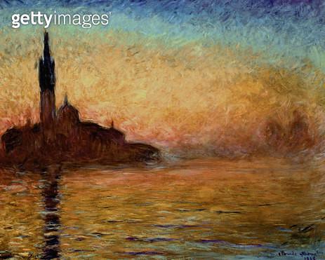 <b>Title</b> : View of San Giorgio Maggiore, Venice by Twilight, 1908<br><b>Medium</b> : oil on canvas<br><b>Location</b> : Bridgestone Museum of Art, Tokyo, Japan<br> - gettyimageskorea
