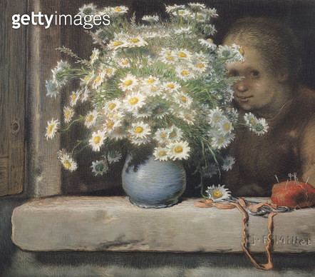 <b>Title</b> : The Bouquet of Margueritas (pastel)<br><b>Medium</b> : pastel on paper<br><b>Location</b> : Musee d'Orsay, Paris, France<br> - gettyimageskorea