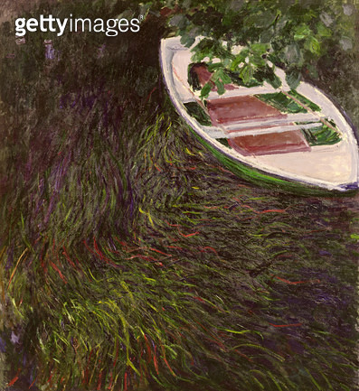 <b>Title</b> : The Boat, 1887 (oil on canvas)<br><b>Medium</b> : oil on canvas<br><b>Location</b> : Musee Marmottan, Paris, France<br> - gettyimageskorea