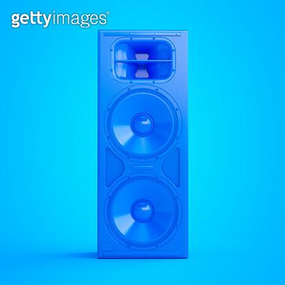 Illustration of a blue speaker. - gettyimageskorea