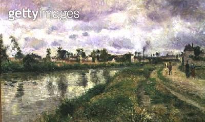 <b>Title</b> : River Scene, 1873<br><b>Medium</b> : oil on canvas<br><b>Location</b> : Private Collection<br> - gettyimageskorea