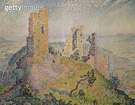 <b>Title</b> : Landscape with a ruined castle<br><b>Medium</b> : oil on canvas<br><b>Location</b> : Private Collection<br> - gettyimageskorea
