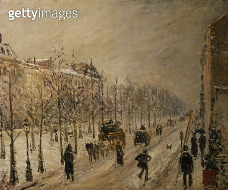 The Boulevards under Snow, 1879 - gettyimageskorea
