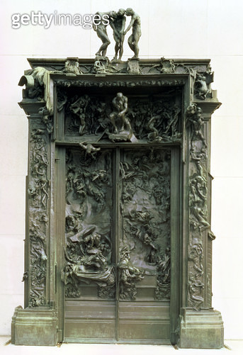 <b>Title</b> : The Gates of Hell, 1880-90 (bronze)<br><b>Medium</b> : <br><b>Location</b> : Musee Rodin, Paris, France<br> - gettyimageskorea
