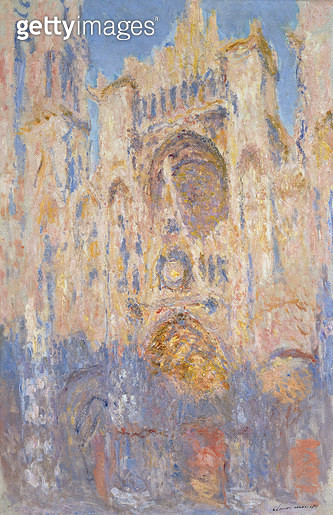 <b>Title</b> : Rouen Cathedral, Effects of Sunlight, Sunset, 1892 (oil on canvas)<br><b>Medium</b> : oil on canvas<br><b>Location</b> : Musee Marmottan, Paris, France<br> - gettyimageskorea