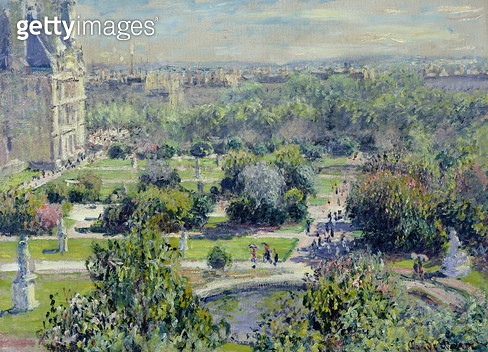 <b>Title</b> : View of the Tuileries Gardens, Paris, 1876 (oil on canvas)<br><b>Medium</b> : oil on canvas<br><b>Location</b> : Musee Marmottan, Paris, France<br> - gettyimageskorea