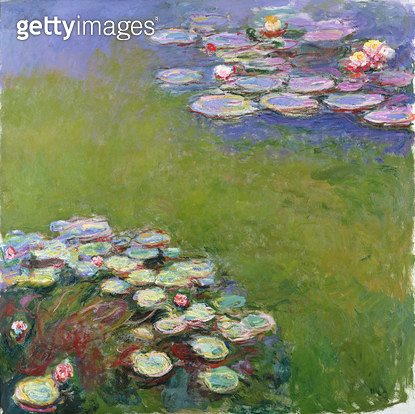 <b>Title</b> : Waterlilies, Harmony in Blue, 1914-17 (oil on canvas)<br><b>Medium</b> : oil on canvas<br><b>Location</b> : Musee Marmottan, Paris, France<br> - gettyimageskorea