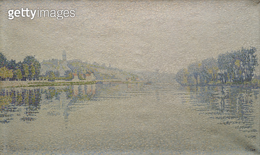 <b>Title</b> : View of the Seine at Herblay, 1889<br><b>Medium</b> : oil on canvas<br><b>Location</b> : Musee d'Orsay, Paris, France<br> - gettyimageskorea