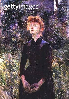 <b>Title</b> : Portrait of a woman, possibly the French comedienne Yvette Guilbert (c.1869-1944), 1888<br><b>Medium</b> : oil on canvas<br><b>Location</b> : Private Collection<br> - gettyimageskorea