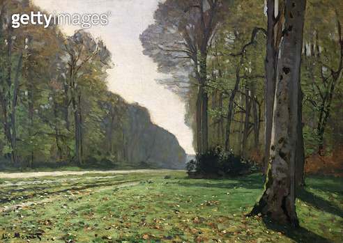 <b>Title</b> : The Road to Bas-Breau, Fontainebleau (Le Pave de Chailly), c.1865 (oil on canvas)<br><b>Medium</b> : oil on canvas<br><b>Location</b> : Musee d'Orsay, Paris, France<br> - gettyimageskorea