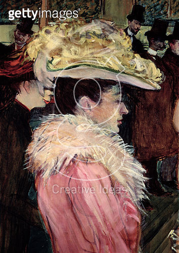 <b>Title</b> : The Dance of the Moulin Rouge: detail of an elegant woman dressed in pink, 1889-90 (detail of 490)<br><b>Medium</b> : <br><b>Location</b> : Private Collection<br> - gettyimageskorea