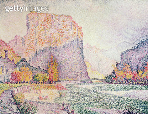 <b>Title</b> : The Cliffs at Castellane, 1902 (oil on canvas)<br><b>Medium</b> : <br><b>Location</b> : Private Collection<br> - gettyimageskorea