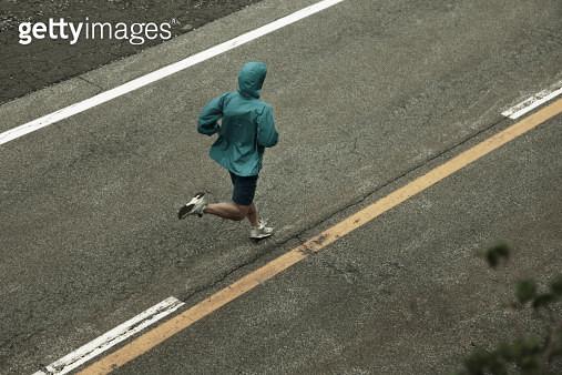 Young man running - gettyimageskorea