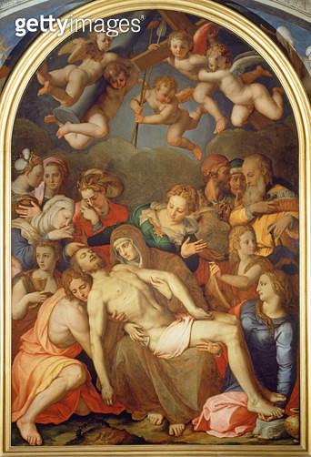 <b>Title</b> : The Deposition, 1555 (fresco)<br><b>Medium</b> : fresco<br><b>Location</b> : Palazzo Vecchio (Palazzo della Signoria) Florence, Italy<br> - gettyimageskorea