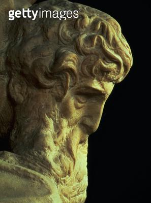 <b>Title</b> : The Genius of Victory by Michelangelo Buonarroti (1475-1564) detail of an unfinished head, 1527-28 (marble) (see 52671)Additiona<br><b>Medium</b> : <br><b>Location</b> : Palazzo Vecchio (Palazzo della Signoria) Florence, Italy<br> - gettyimageskorea