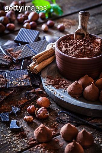 Preparing homemade chocolate truffles - gettyimageskorea