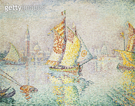<b>Title</b> : The Yellow Sail, Venice, 1904 (oil on canvas)<br><b>Medium</b> : oil on canvas<br><b>Location</b> : Musee des Beaux-Arts et d'Archeologie, Besancon, France<br> - gettyimageskorea