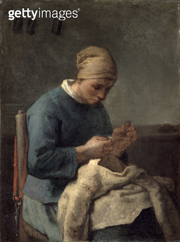 <b>Title</b> : The Seamstress<br><b>Medium</b> : oil on canvas<br><b>Location</b> : Musee d'Orsay, Paris, France<br> - gettyimageskorea