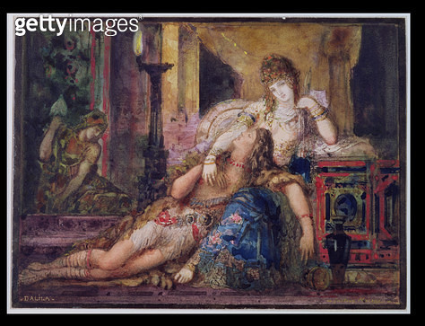 <b>Title</b> : Samson and Delilah (w/c)<br><b>Medium</b> : <br><b>Location</b> : Musee Gustave Moreau, Paris, France<br> - gettyimageskorea