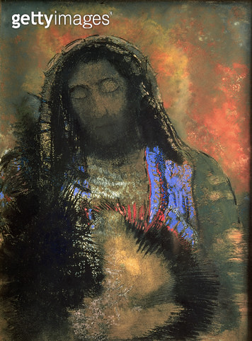 <b>Title</b> : Sacred Heart, 1910 (pastel on paper)<br><b>Medium</b> : pastel on paper<br><b>Location</b> : Musee d'Orsay, Paris, France<br> - gettyimageskorea