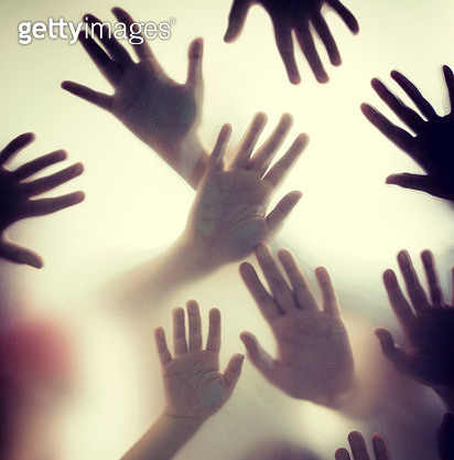 Group of hands silhouettes - gettyimageskorea