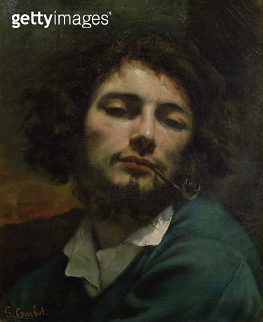 <b>Title</b> : Self Portrait or, The Man with a Pipe, c.1846 (oil on canvas)<br><b>Medium</b> : oil on canvas<br><b>Location</b> : Musee Fabre, Montpellier, France<br> - gettyimageskorea