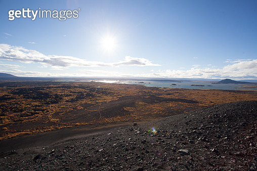 View Close To The Volcano Hverfjall In Iceland. Tough Nature And - gettyimageskorea