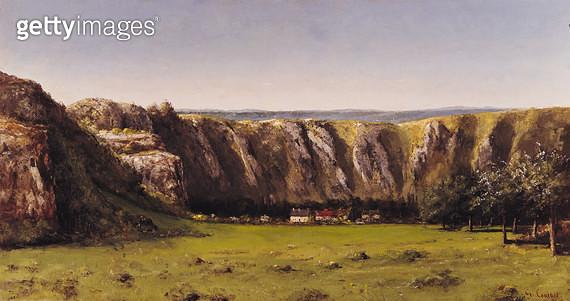 <b>Title</b> : Rocky landscape near Flagey (oil on canvas)<br><b>Medium</b> : oil on canvas<br><b>Location</b> : Musee d'Orsay, Paris, France<br> - gettyimageskorea