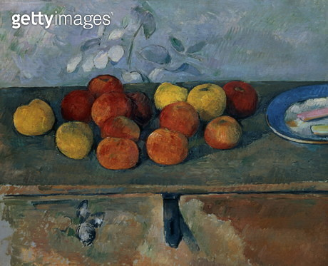 Still life of apples and biscuits, 1880-82 (oil on canvas) - gettyimageskorea