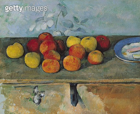 <b>Title</b> : Still life of apples and biscuits, 1880-82 (oil on canvas)<br><b>Medium</b> : oil on canvas<br><b>Location</b> : Musee de l'Orangerie, Paris, France<br> - gettyimageskorea
