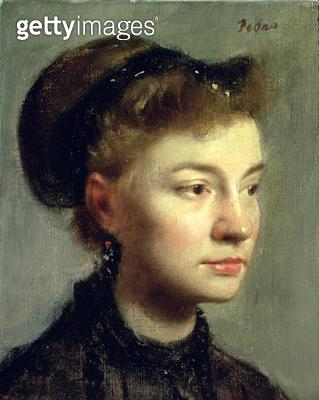 <b>Title</b> : Portrait of a young woman, 1867<br><b>Medium</b> : oil on canvas<br><b>Location</b> : Musee d'Orsay, Paris, France<br> - gettyimageskorea
