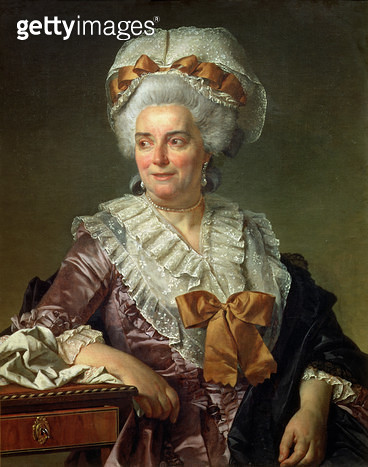 <b>Title</b> : Portrait of Madame Charles-Pierre Pecoul, nee Potain, mother-in-law of the artist, 1784 (see 82877 for portrait of her husband)<br><b>Medium</b> : oil on canvas<br><b>Location</b> : Louvre, Paris, France<br> - gettyimageskorea