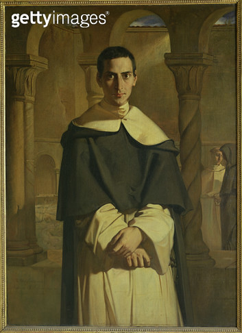 <b>Title</b> : Portrait of Jean Baptiste Henri Lacordaire (1802-61), French prelate and theologian, 1841 (oil on canvas)<br><b>Medium</b> : oil on canvas<br><b>Location</b> : Louvre, Paris, France<br> - gettyimageskorea