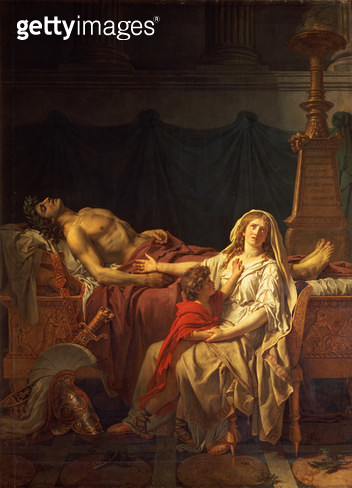 <b>Title</b> : Andromache mourning Hector, 1783<br><b>Medium</b> : oil on canvas<br><b>Location</b> : Pushkin Museum, Moscow, Russia<br> - gettyimageskorea