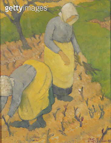 <b>Title</b> : Women in the Vineyard, 1890 (oil on canvas)<br><b>Medium</b> : oil on canvas<br><b>Location</b> : Private Collection<br> - gettyimageskorea
