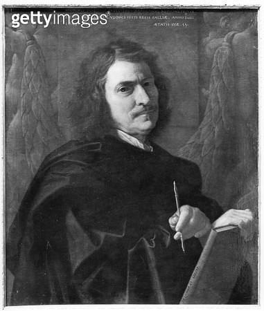 <b>Title</b> : Self Portrait, 1649 (oil on canvas) (b/w photo)<br><b>Medium</b> : oil on canvas<br><b>Location</b> : Gemaldegalerie, Berlin, Germany<br> - gettyimageskorea