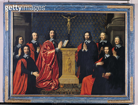 <b>Title</b> : The Prevot des Marchands and the echevins of the city of Paris, 1648<br><b>Medium</b> : oil on canvas<br><b>Location</b> : Louvre, Paris, France<br> - gettyimageskorea