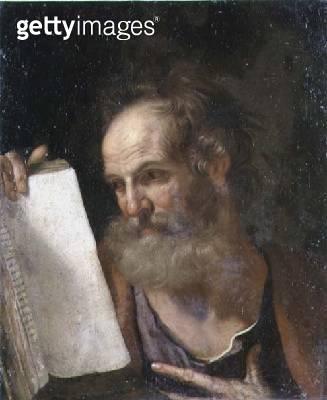 <b>Title</b> : An Evangelist holding a gospel<br><b>Medium</b> : oil on canvas<br><b>Location</b> : Phillips, The International Fine Art Auctioneers, UK<br> - gettyimageskorea