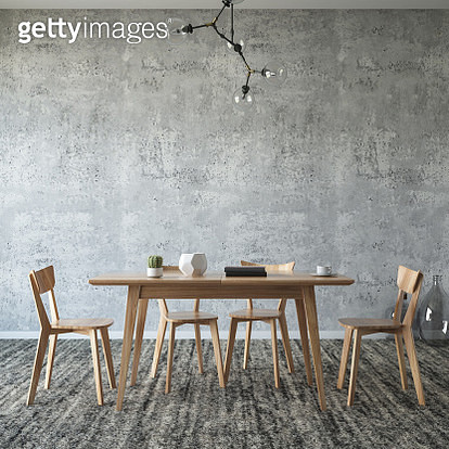 Dining room concept with table chair and furnitures - gettyimageskorea