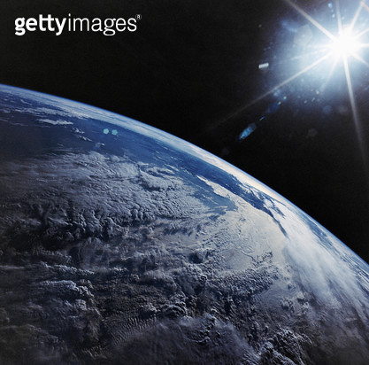 EARTH FROM SPACE, 1990. /nView of the Andes Mountains and the Pacific Ocean. Photographed from the Space Shuttle Discovery, April 1990. - gettyimageskorea