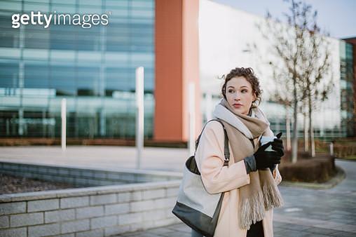 Businesswoman on Her Way to Work - gettyimageskorea