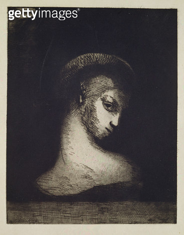 <b>Title</b> : Female Head (engraving)<br><b>Medium</b> : engraving<br><b>Location</b> : Hamburger Kunsthalle, Hamburg, Germany<br> - gettyimageskorea
