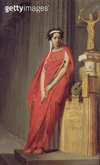 <b>Title</b> : Rachel (1821-58) (oil on canvas)<br><b>Medium</b> : oil on canvas<br><b>Location</b> : Musee de la Vie Romantique, Paris, France<br> - gettyimageskorea