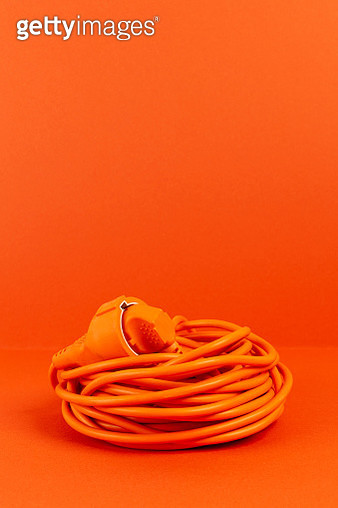 Electric cable plugged into itself - gettyimageskorea