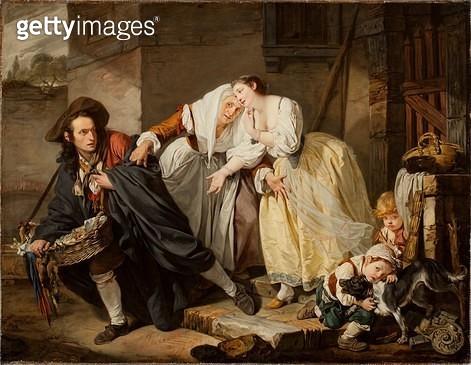 <b>Title</b> : Le Geste Napolitain, 1757 (oil on canvas)<br><b>Medium</b> : oil on canvas<br><b>Location</b> : Worcester Art Museum, Massachusetts, USA<br> - gettyimageskorea