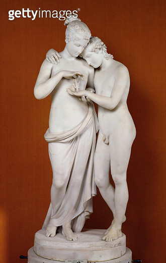 <b>Title</b> : Cupid and Psyche (marble)<br><b>Medium</b> : marble<br><b>Location</b> : Louvre, Paris, France<br> - gettyimageskorea