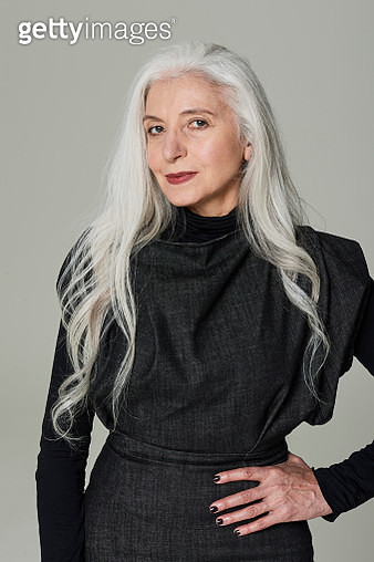 Portrait of Stylish Mature Woman - gettyimageskorea